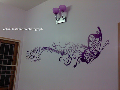 Vinilo Decorativo Wall Sticker Mapa Del Mundo Musical Notas