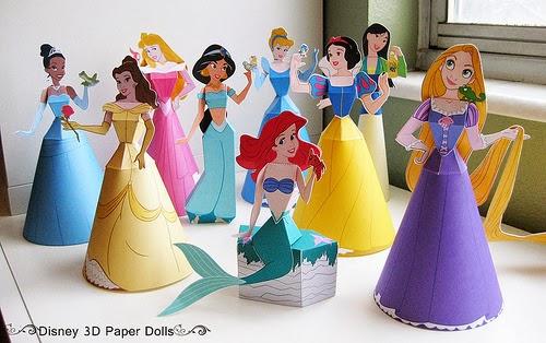 Décoration-princesse-en-3D-poupée