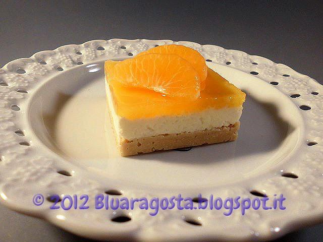cocco cheesecake con gelatina al mandarino