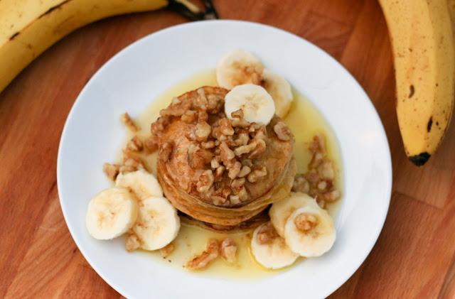 2 Ingredient Pancakes with Salted Caramel Sauce