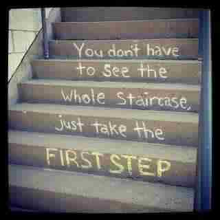 You don't have to see the whole staircase
