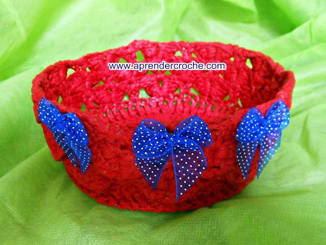 croche endurecido cestas aprender croche com edinir-croche
