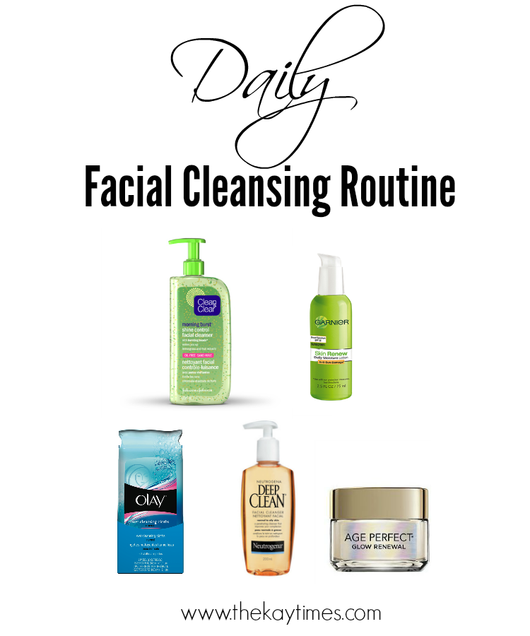 facial cleansing routine