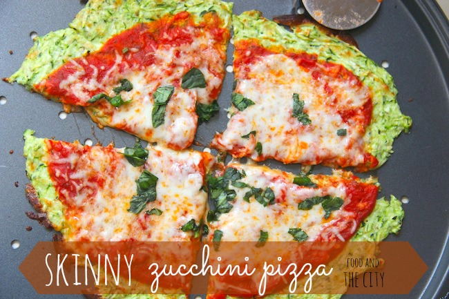 Food and the City: skinny zucchini pizza crust