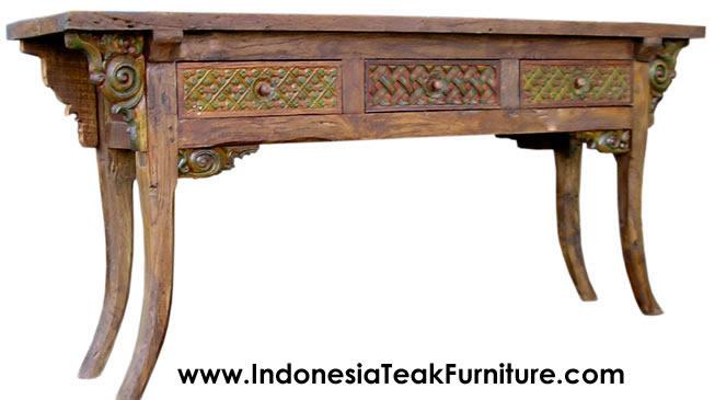 Carved Teak Wood Furniture Indonesia