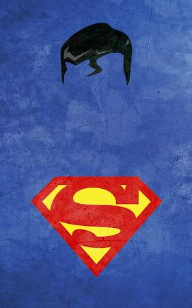 Poster Pahlawan Super dengan Style Minimalis