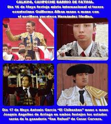 Guillermo Alban y El Chihuahua anunciados en Calkini, el 16 y 17/05.