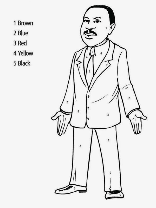 Print Martin Luther King, Jr. Coloring Pages For Kids. | New Coloring ...