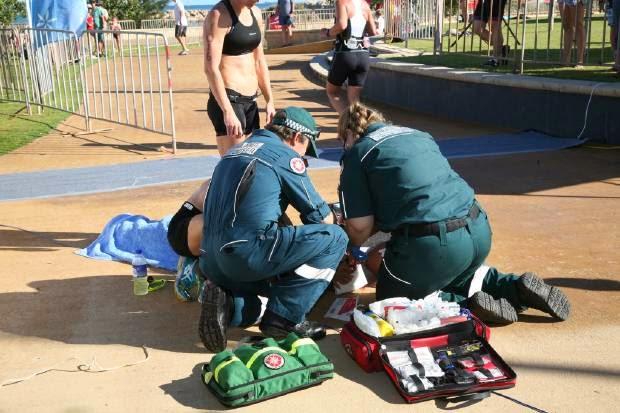 Drone hit a Triathlete, Triathlete, Triathlete injured, Triathlete accident, Endure Batavia Triathlon