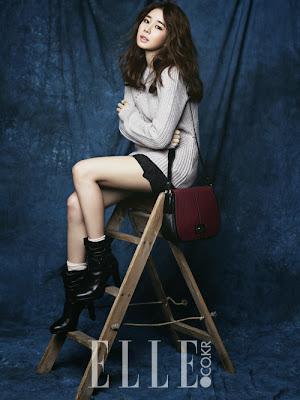 Yoo In Na Elle December 2013