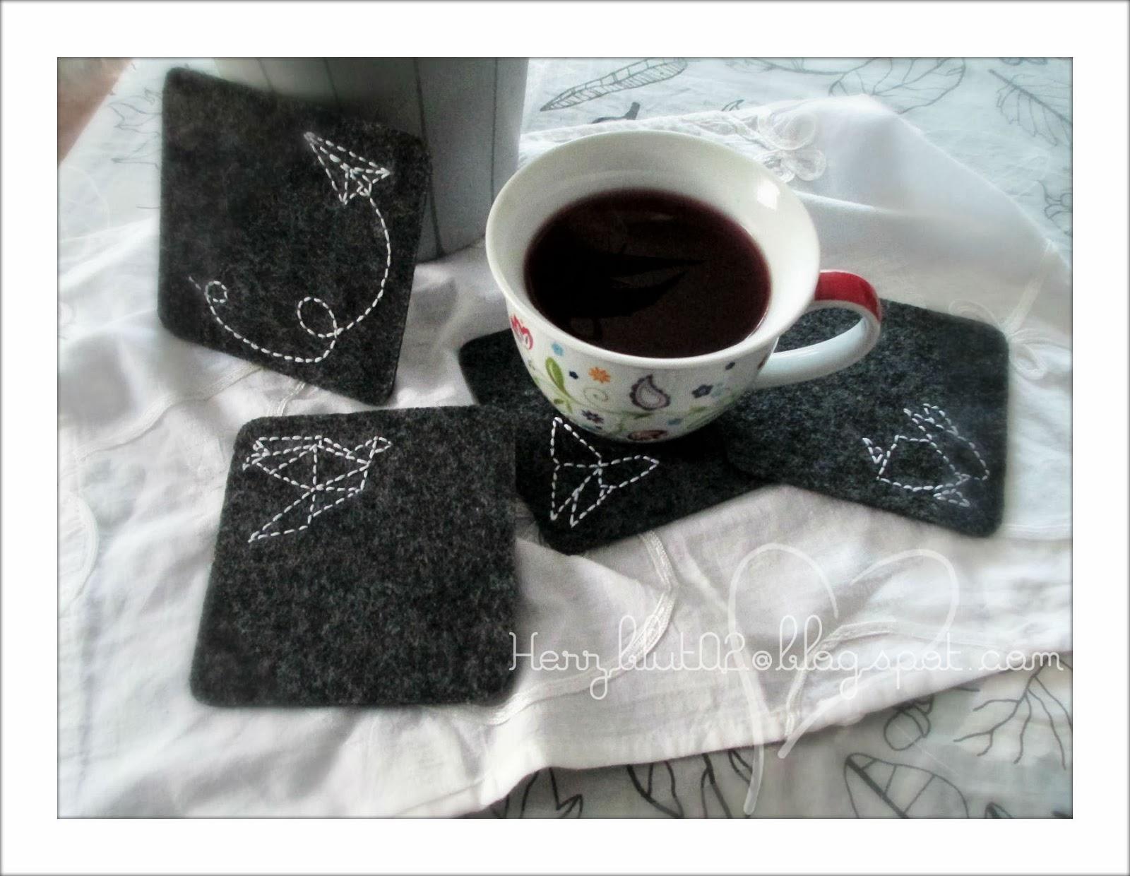 herzblut ein diy blog mugrug mit origami stickerei. Black Bedroom Furniture Sets. Home Design Ideas