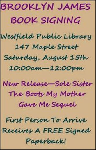 8-15 Brooklyn James Book Signing, Westfield