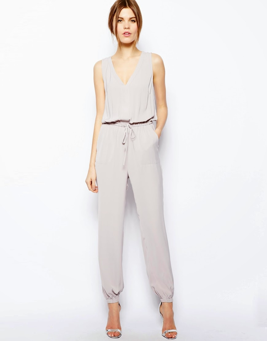 light grey jumpsuit