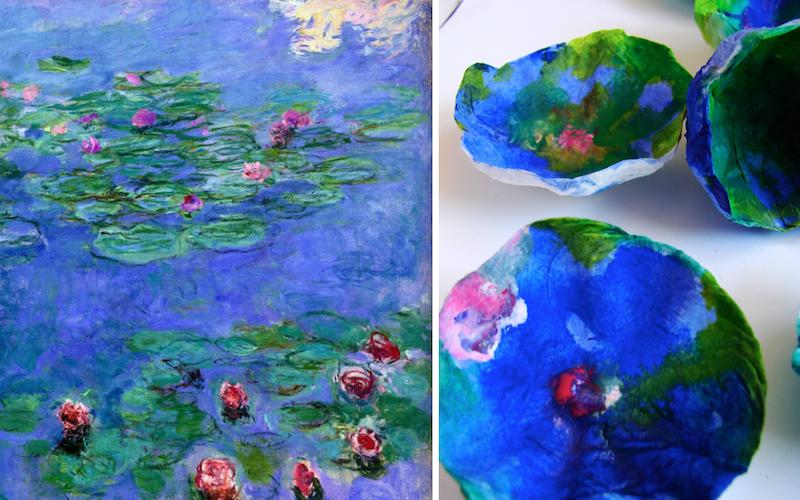 matrimonio ecologico a tema: il giardino di Monet e fiori di carta