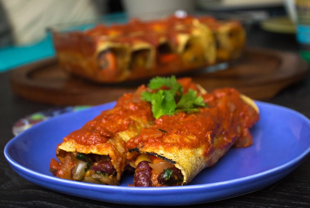 Show some love with Butternut Squash Enchiladas