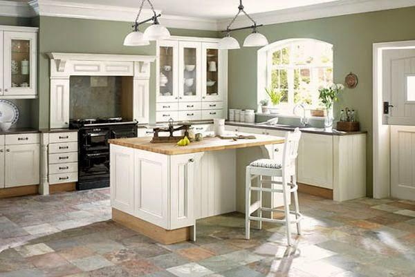 Couleur peinture pour cuisine avec armoires en ch ne - Cuisine couleur pastel ...