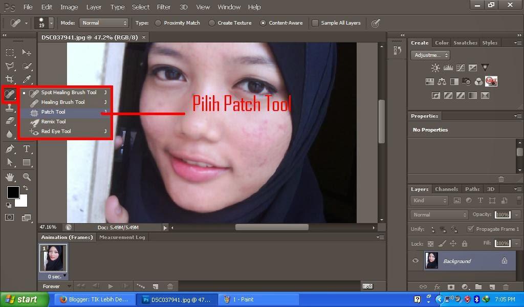 Cara Menghilangkan Jerawat pada Foto | Photoshop
