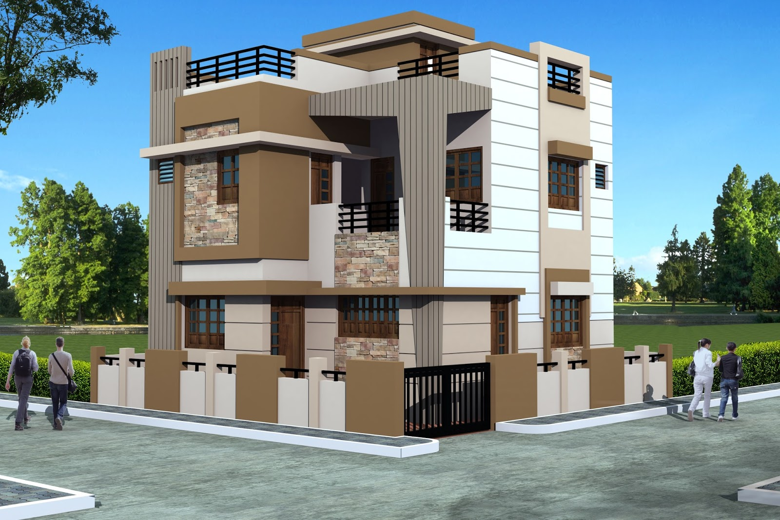 duplex bungalows at aiya nagar the ocean builders