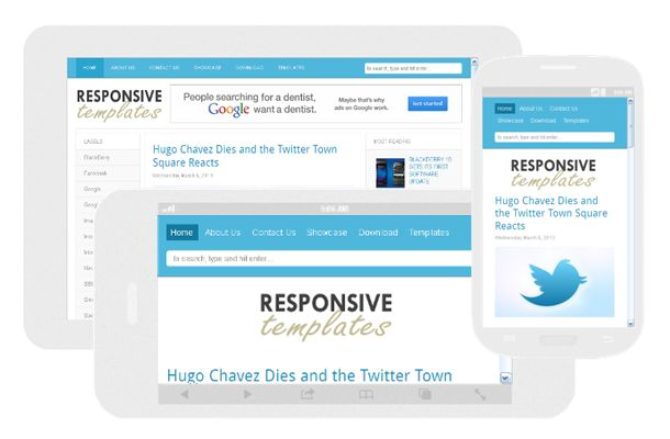 Responsive Template - Blogger