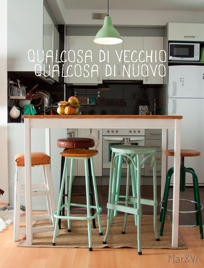 Mobili riciclati in cucina