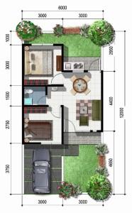 gambar denah rumah terbaru
