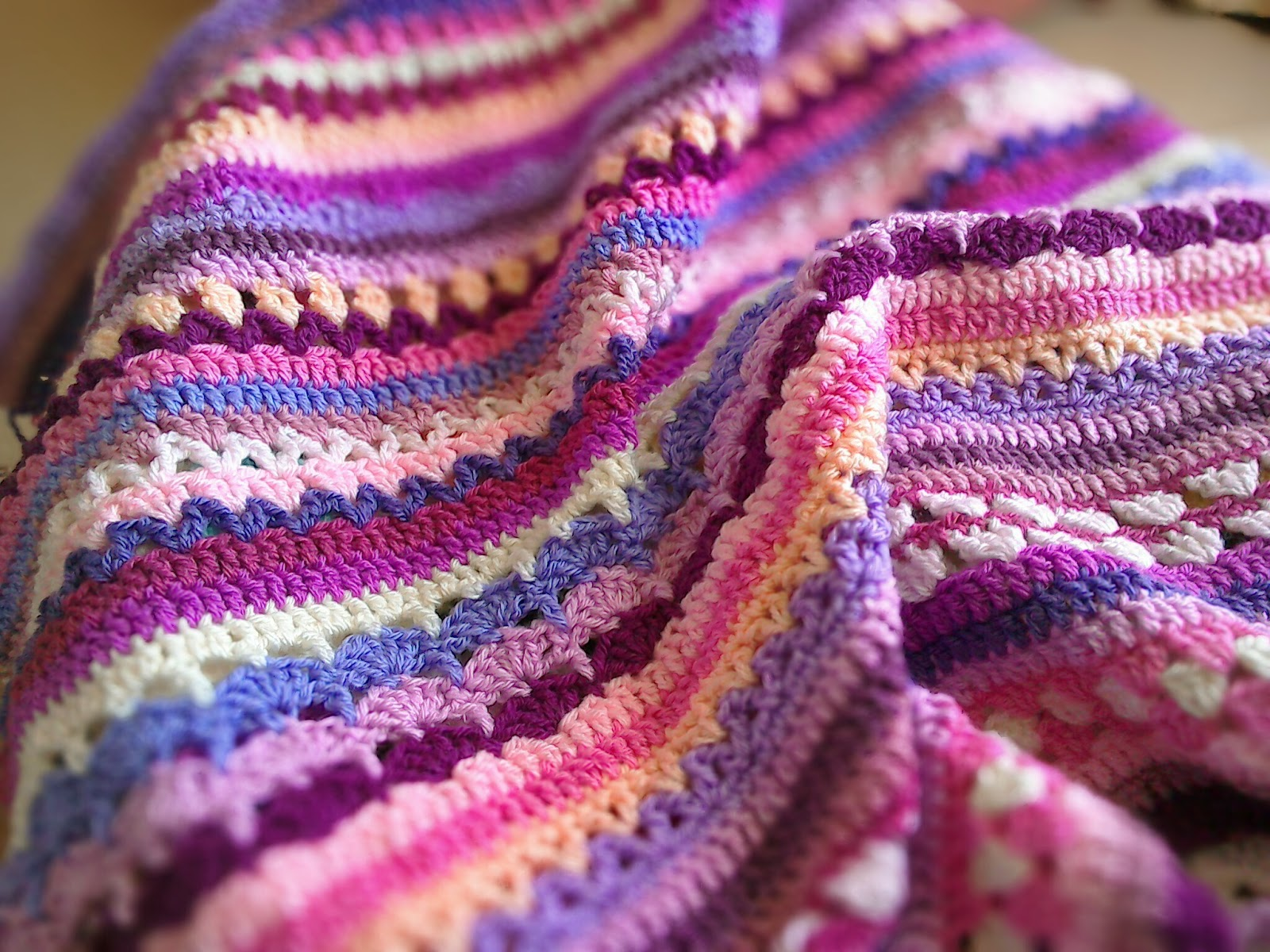 Links To More Than 10 000 Crochet Patterns And Pieces: Cuppa Crochet: Stripe Along Blanket (Spice Of Life CAL