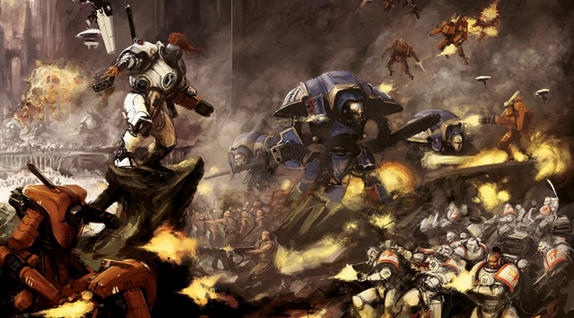 What's Bigger?- The Tau Stormsurge or An Imperial Knight ...
