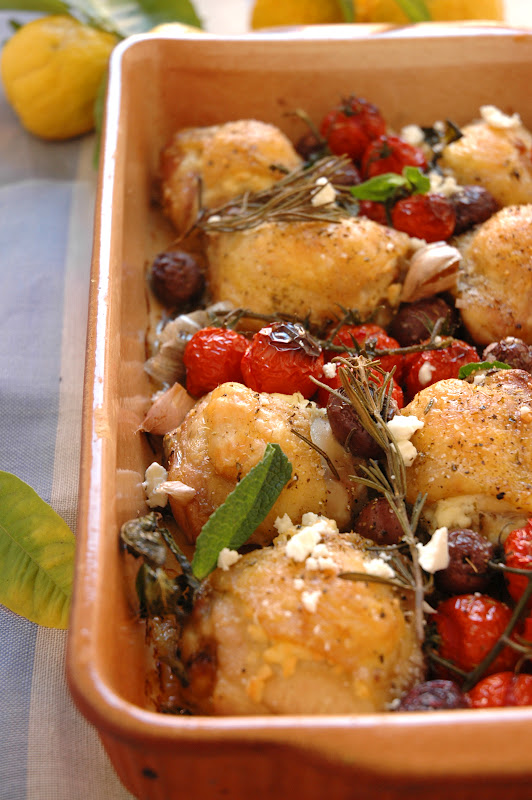 Mediterranean Chicken with Feta and Olives - My Easy Cooking