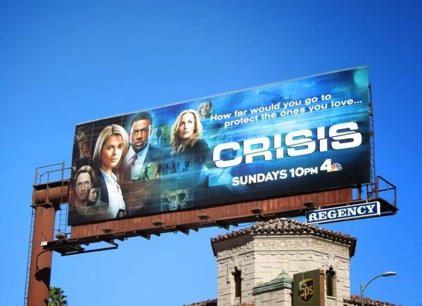 Crisis series premiere billboard