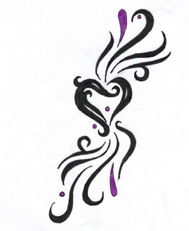 Pictures Of Heart Tattoos With Names. Tattoo Design - Heart Tattoo