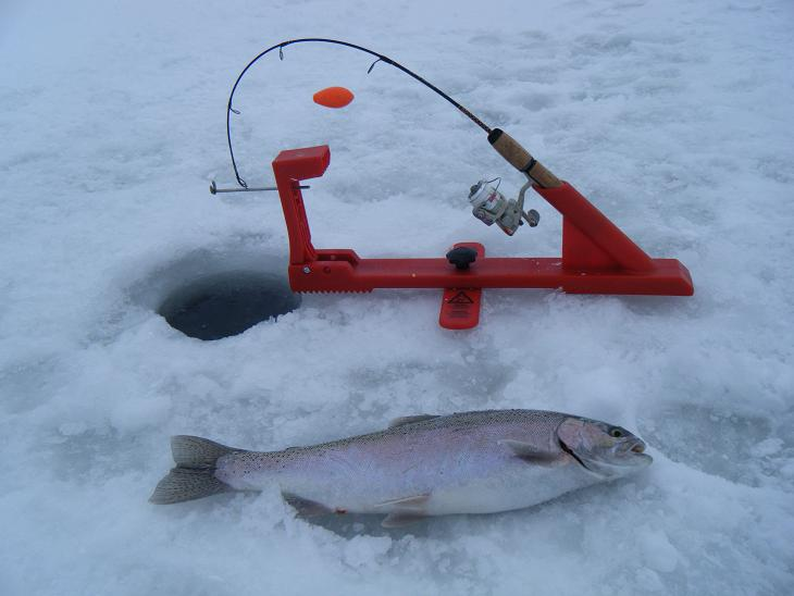 Wisconsin fishing reports ice fishing for great lakes trout for Ice fishing trout lures