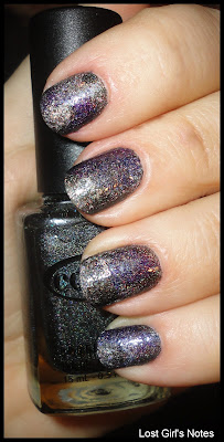 holographic patchwork manicure
