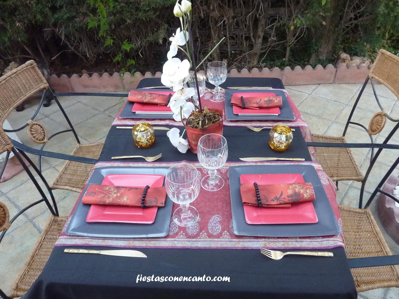 Fiestas con encanto decoraci n mesa japonesa - Mesas japonesas ...