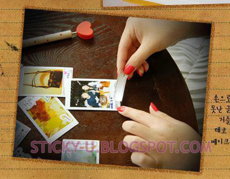 039: Polariod Label Deco Sticker