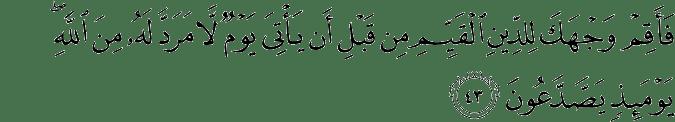 Surat Ar Rum Ayat 43