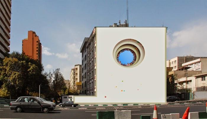 Murales en los edificios de Teheran 27