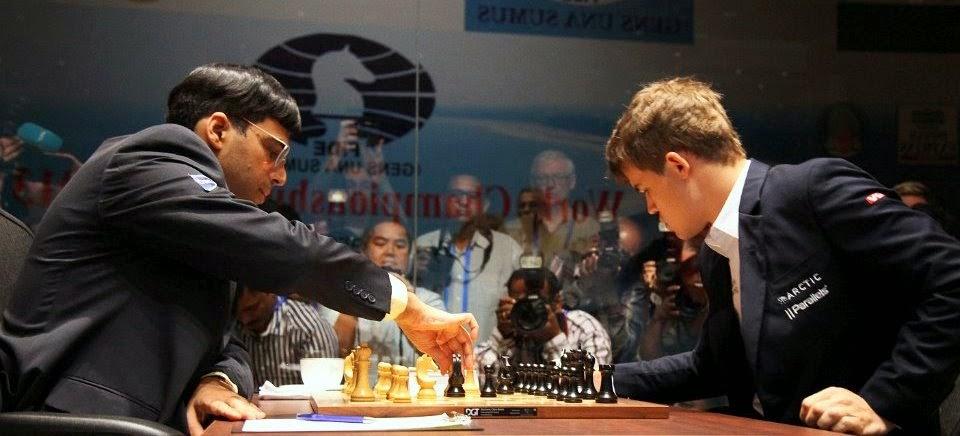 Le choc de la première ronde entre Anand et Carlsen au 2e Mémorial d'échecs Vugar Gashimov