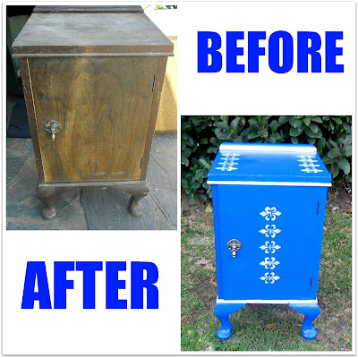 With A Blast - Before/After Painted Nightstand