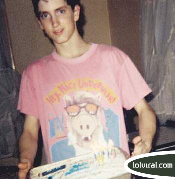 Young Eminem smiling picture photo