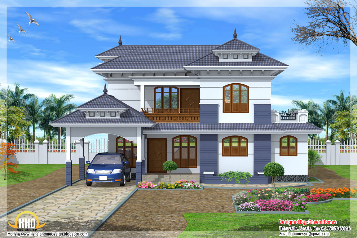 4 bedroom 2235 kerala style house architecture for Home designs kerala style