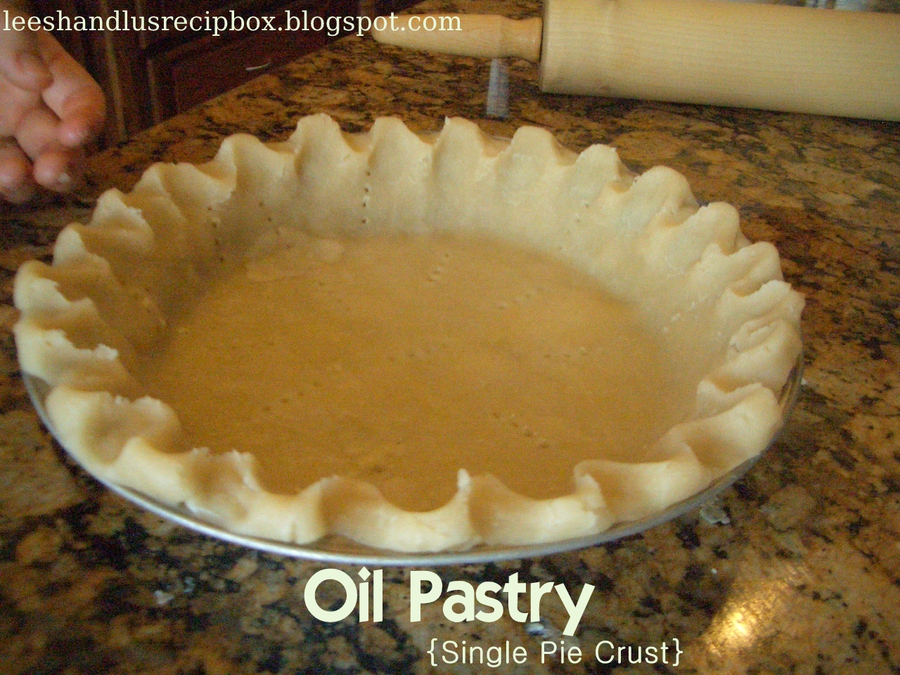 Leesh & Lu's Recipe Box: The Perfect Pie Crust {Oil Pastry with Video...