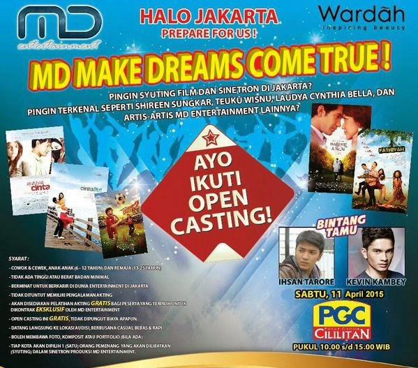 Casting MD Entertainment April 2015 di jakarta
