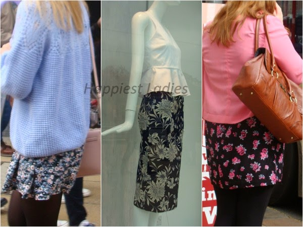 floral pattern summer skirts