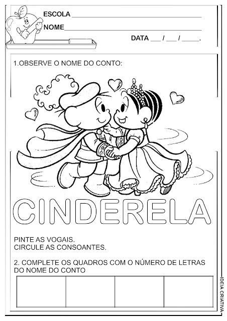 Atividade Contos de Fada / Cinderela