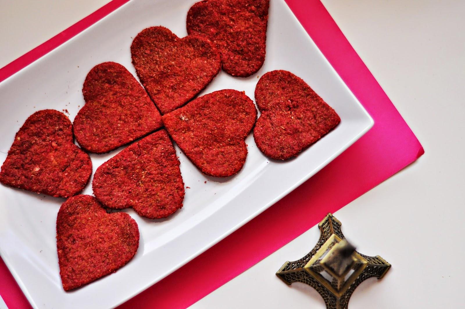Walentynkowe serduszka pełnoziarniste | zdrowe | niskokaloryczne ciasteczka