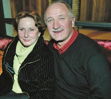 Luiz Felipe Scolari with Wife Olga Scolari