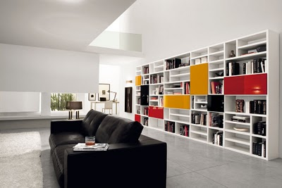 Decoraci n de interiores libreros estilo contempor neo for Libreros originales