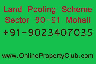 Gmada Sector 90 91 Plots, land pooling scheme plots buy sell