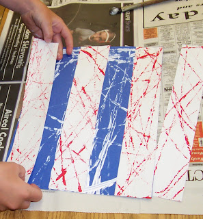 photo of: Kindergarten Patriotic Art Project