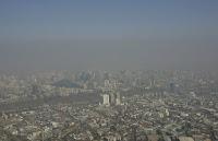 Smog in Santiago (Credit: AP Photo/Santiago Llanquin)  Click to Enlarge.